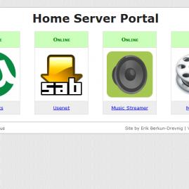 Home Server Web UI